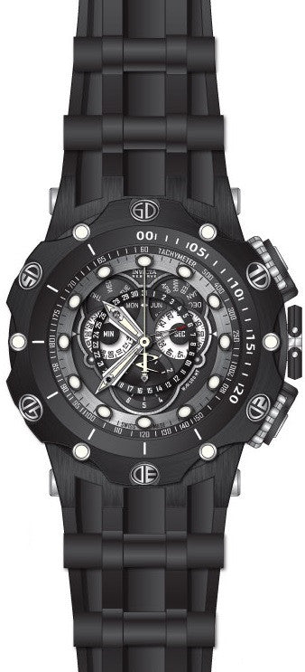 Invicta Men's Venom Chronograph 500m Black Stainless Steel Silicone Watch 20431