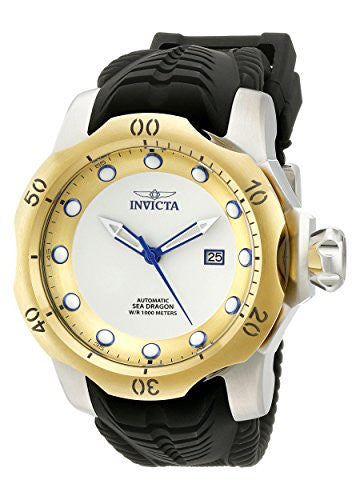 Invicta Men's Venom Automatic 1000m Stainless Steel Black Silicone Watch 19312