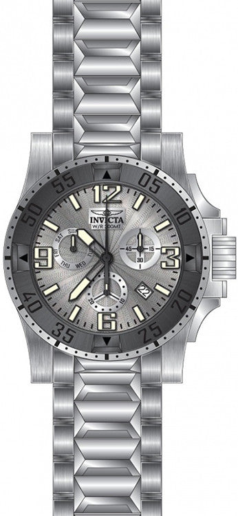 Invicta Men's Excursion Quartz Chronograph Silver Dial Watch 23901