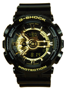Casio G-Shock Analog-Digital Anti-Magnetic Gold and Black Resin Watch GA110GB-1A