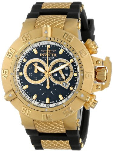 Invicta Men's Subaqua Chronograph 500m Stainless Steel Polyurethane Watch 5514