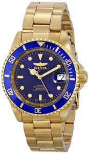 Invicta Men's Pro Diver Automatic 200m Gold Plated Stainless Steel Watch 8930OB