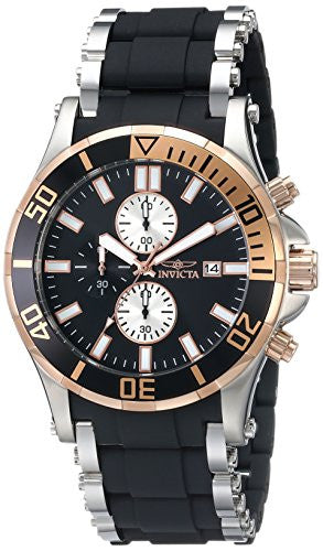 Invicta Men's Sea Spider Chronograph Stainless Steel Polyurethane Watch 13666