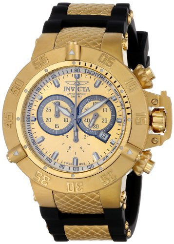 Invicta Men's Subaqua Chronograph 500m Stainless Steel Polyurethane Watch 5517