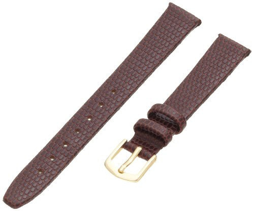 Hadley Roma Women's 12mm Brown Java Lizard Grain Leather Watch Strap LS706