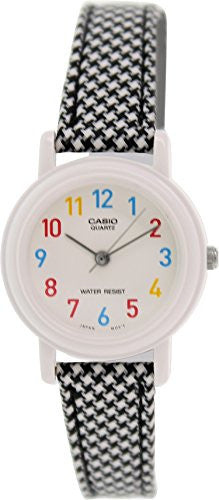 Casio Women's leather/cloth Black Analog Watch LQ-139LB-1B