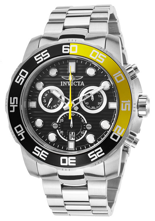 Invicta Men's Pro Diver Chronograph Analog Quartz Stainless Steel Watch 21553