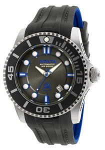 Invicta Men's Pro Diver Automatic S. Steel Black/Blue Silicone Watch 20200