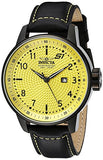 Invicta Men's S1 Rally Quartz 100m Yellow Dial Black Leather Watch 19616