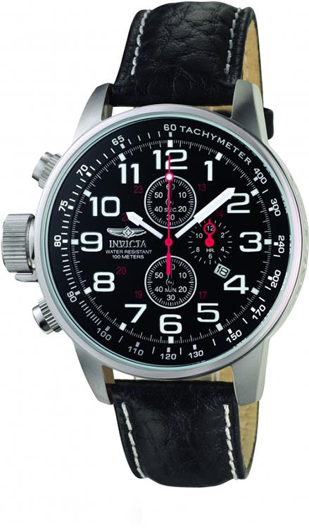 Invicta Men's I-Force Lefty Stainless Steel Black Leather Watch 2770