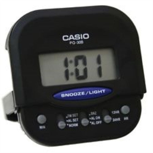 Casio Travel Alarm Clock with Light and Snooze PQ30B-1D