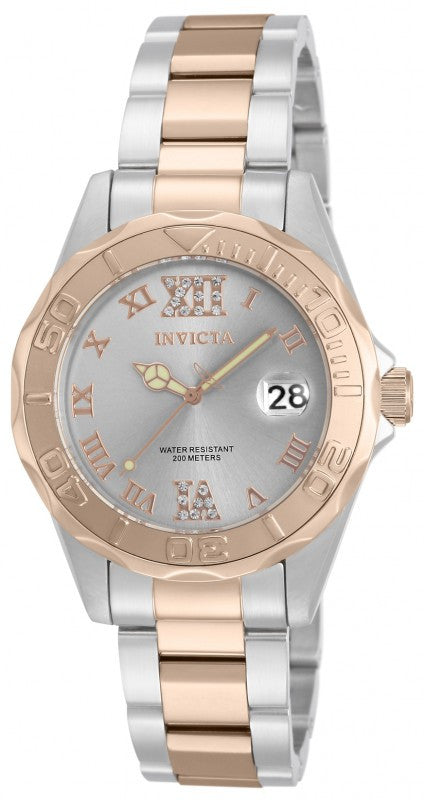 Invicta Women's Pro Diver 200m Quartz Two Toned Stainless Steel Watch 17022