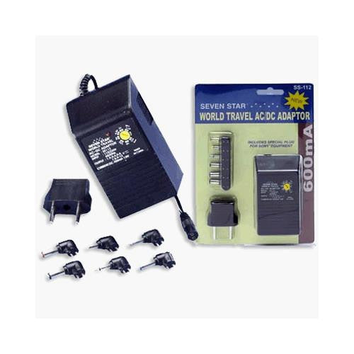 Seven Star World Travel AC/DC Adapter 600ma