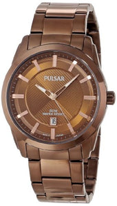 Pulsar Men's PH9019 Analog Display Japanese Quartz Brown Watch
