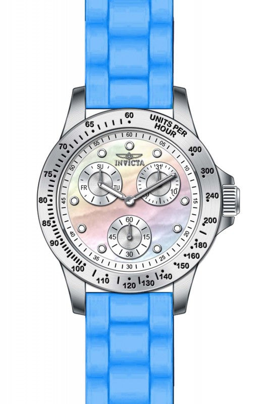 Invicta Women's Speedway Chrono 100m Stainless Steel Blue Silicone Watch 21970