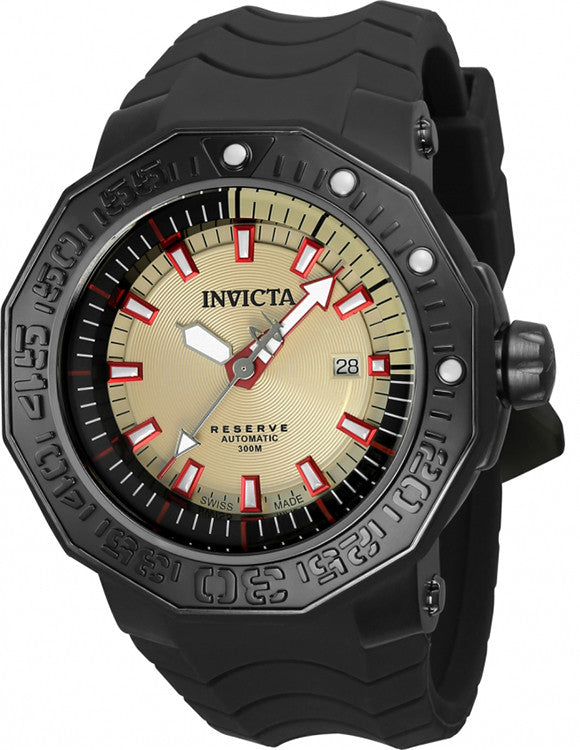 Invicta Men's Reserve Automatic 300m Stainless Steel Black Silicone Watch 23033