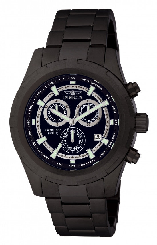 Invicta Men's Specialty Chronograph Quartz Black Stainless Steel Watch 1563
