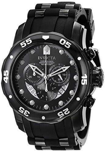 Invicta Men's Pro Diver Chrono Stainless Steel Black Polyurethane Watch 6986