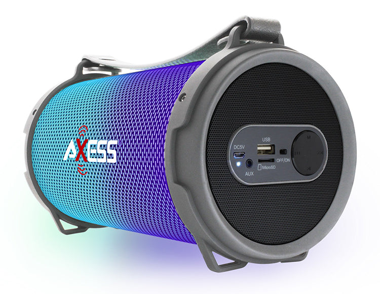 Axess Bluetooth Disco LED Lights 1.0Ch Rechargeable Speaker (Silver) SPBL1045SL
