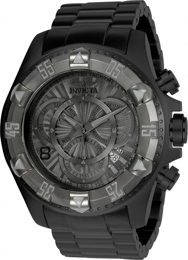 Invicta Men's Excursion Chronograph 200m Black Stainless Steel Watch 24269