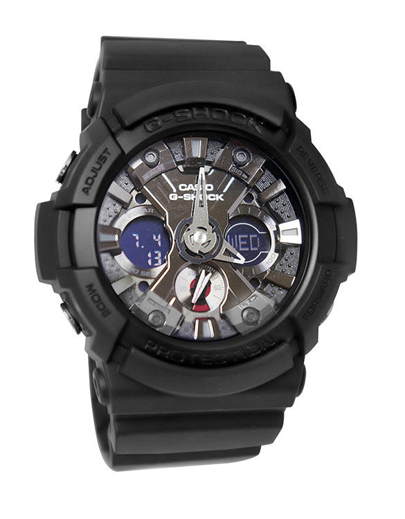 Casio G-Shock Analog-Digital Magnetic, Shock Resistant Black Resin Watch GA201-1