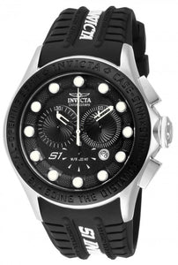 Invicta Men's S1 Rally Chronograph Stainless Steel Silicone Watch 10840