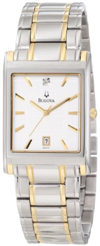 Bulova Men's 98D005 Diamond Dial Calendar Watch