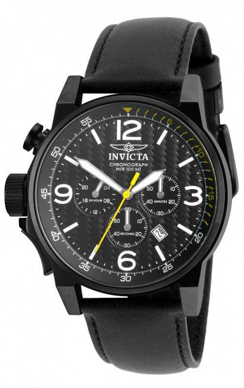 Invicta Men's I-Force Lefty Chronograph 100m Stainless Steel Leather Watch 20140