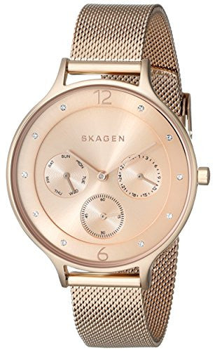 Skagen Women's Chronograph Rose Gold Tone Stainless Steel Watch SKW2314
