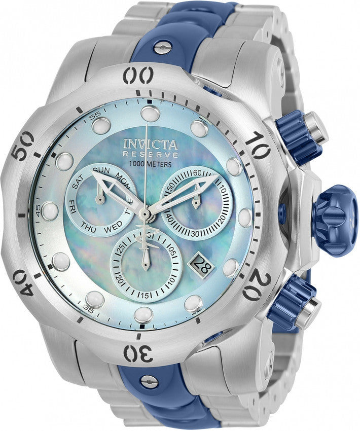 Invicta Men's Reserve Chrono S. Steel Swiss Quartz Oyster Dial Watch 25063