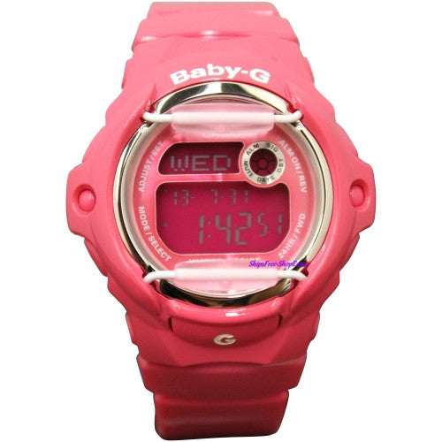 Casio Baby-G Woman's Pink Resin Strap Watch BG169R-4B