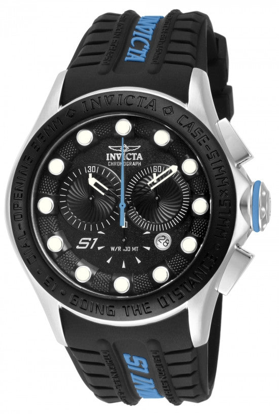 Invicta Men's S1 Rally Chronograph Stainless Steel Silicone Watch 10841