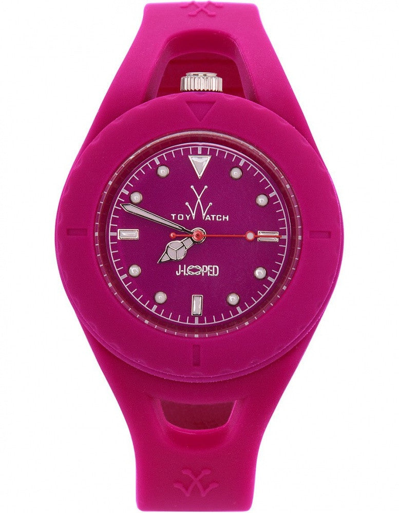 Toy Jelly Looped Hot Pink Analog Quartz Watch JL04PS