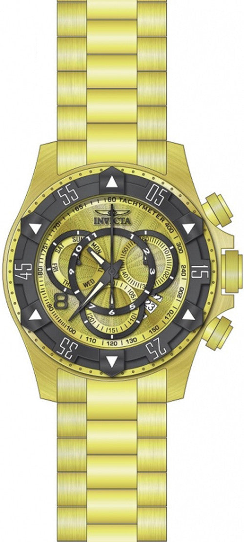 Invicta Men's Excursion Chrono Quartz 200m Gold Tone Stainless Steel Watch 24266