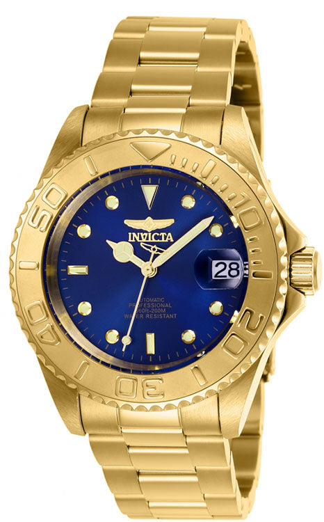 Invicta Men's Pro Diver Automatic Gold Plated Blue Dial Watch 26997