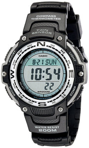 Casio Men's Digital Compass Thermometer 200m Black Resin Watch SGW100-1