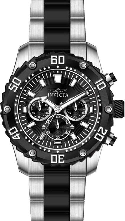 Invicta Men's Pro Diver Quartz Chronograph Black Dial Watch 22521