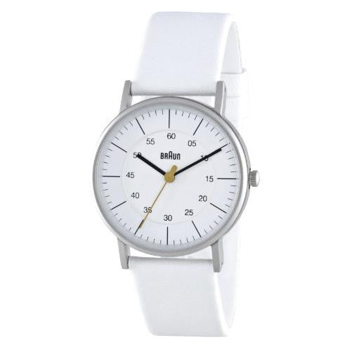Braun Ladies White Analog Leather Watch BN0011WHWHL