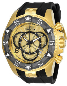 Invicta Men's Excursion Chronograph 200m Gold Tone S.Steel Silicone Watch 24276