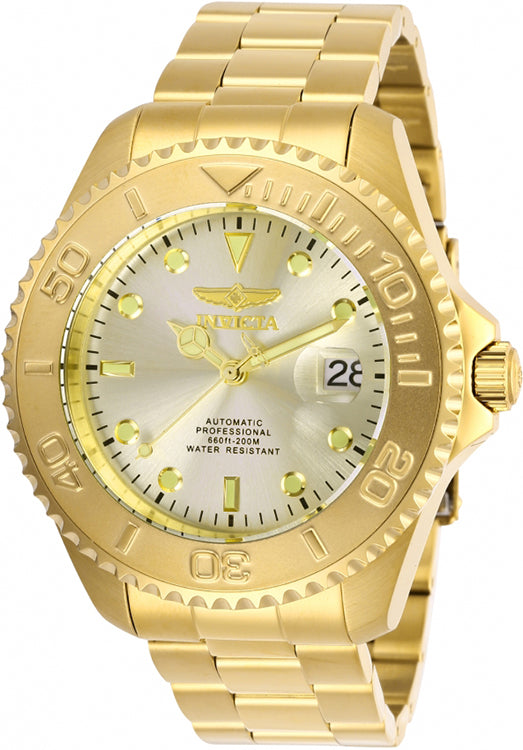 Invicta Men's Pro Diver Automatic 200m Gold Tone Stainless Steel Watch 28950