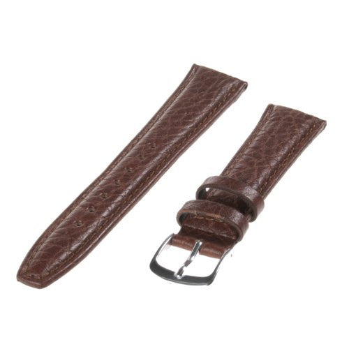 Republic Mens Shrunken Grain Leather Watch Strap, Tan, Size 18 MM Regular