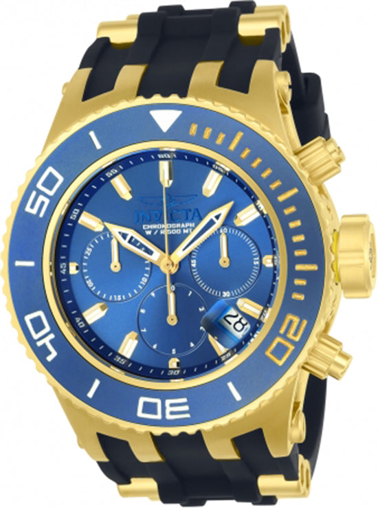 Invicta Men's Subaqua Quartz 3 Hand Blue Dial Watch 22366