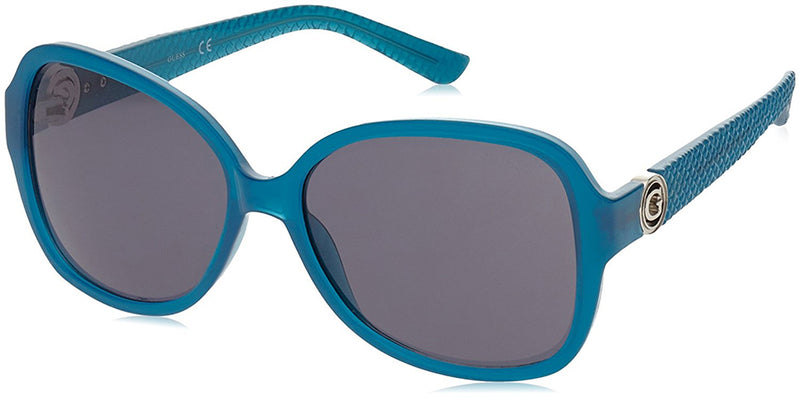 Guess Women's Sunglasses, Turquoise Frame, Grey Lens GF0275-5887A