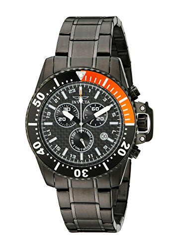 Invicta Men's Pro Diver Chronograph Black Stainless Steel Watch 11290