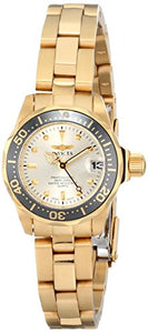 Invicta Women's Pro Diver 200m Quartz Gold Tone Stainless Steel Watch 14987