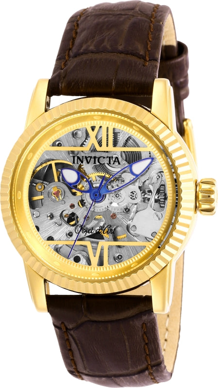 Invicta Women's Objet D Art Automatic Stainless Steel Leather Watch 26348