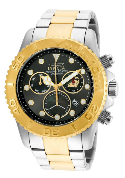 Invicta Men's Pro Diver Chronograph 300m Two Toned Stainless Steel Watch 20347