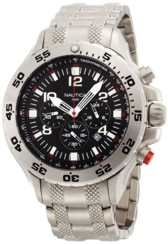 Nautica Men's Stainless Steel Chronograph Watch N19508G
