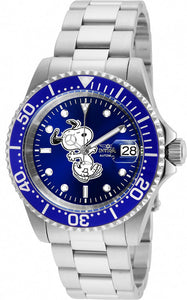 Invicta Men's Character Stainless Steel Date Display Blue Dial Watch 24783