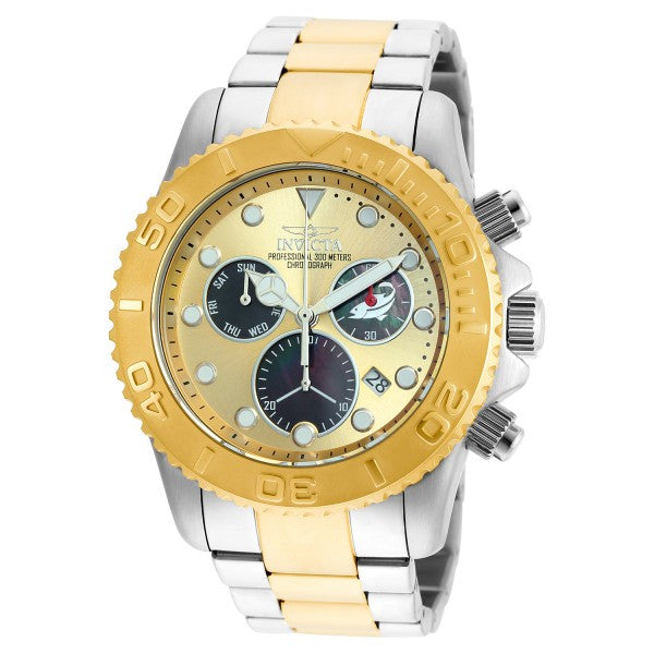 Invicta Men's Pro Diver Chronograph 300m Two Toned Stainless Steel Watch 20348